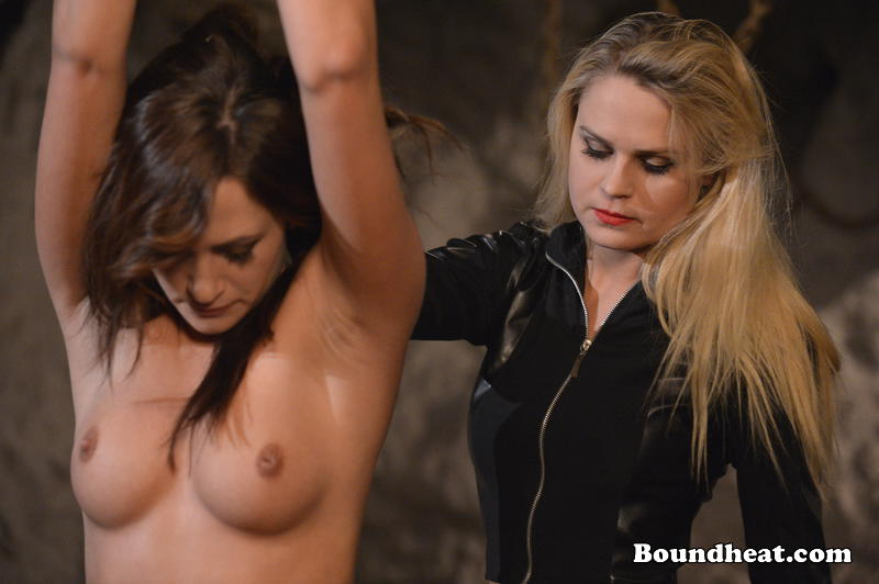 image Betrayed cargo mistress and huntress playing with sub slave