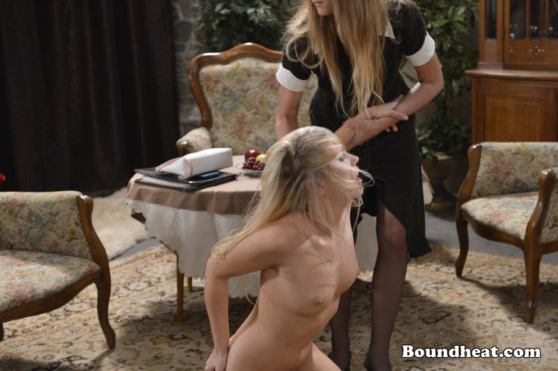 maid punishes sex slave