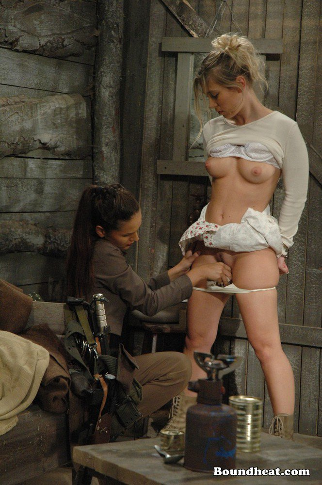 Young slave girls lesbian domination in leather collared 7