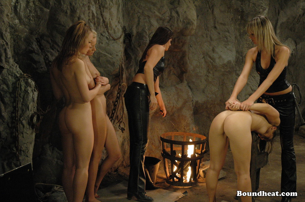 image Betrayed cargo lesbian mistress enjoy in young slave bodies